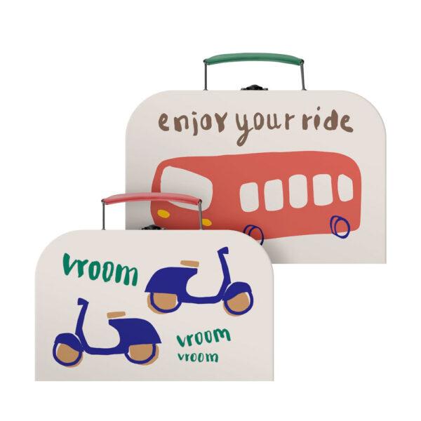 Set de maletines – pequenos conductores – Sebra – maletas – almacenaje – Liderlamp (1)
