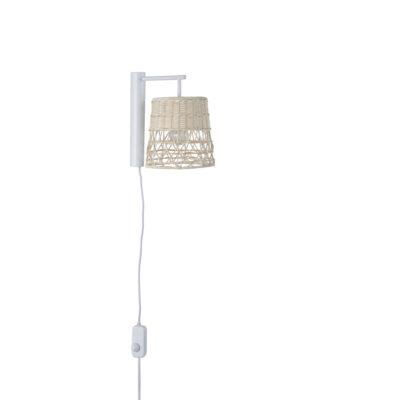 Aplique Gukin - natural - Corep - Marketset - pantalla ratan - Liderlamp