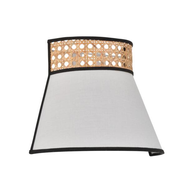 Aplique Nerea – blanco – fibras naturales – Market Set – natural – Liderlamp (1)