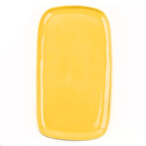 Bandeja de ceramica – amarillo – Quail Egg – Artesano – aperitivo – Liderlamp (1)
