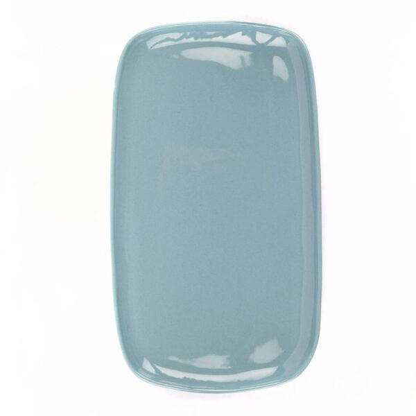 Bandeja de ceramica - azul petroleo - Quail Egg - Artesano - aperitivo - Liderlamp (3)