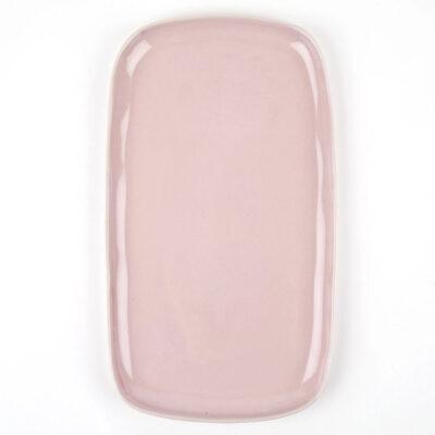 Bandeja de ceramica - rosa palido - Quail Egg - Artesano - aperitivo - Liderlamp (4)
