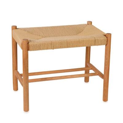 Banqueta de madera de roble - Andrea House - mueble auxiliar - Liderlamp (1)