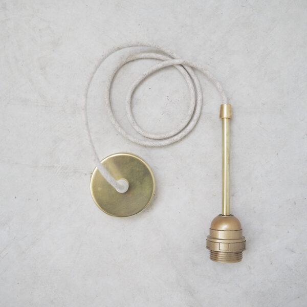 Cable alargo con base de laton y rosca – accesorio – Liderlamp