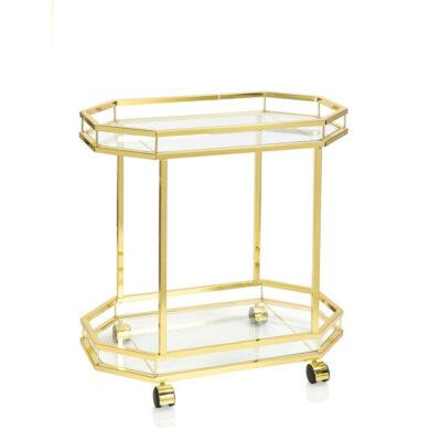 Camarera dorada - Andrea House - New Mid Century - mueble auxiliar - Liderlamp (1)