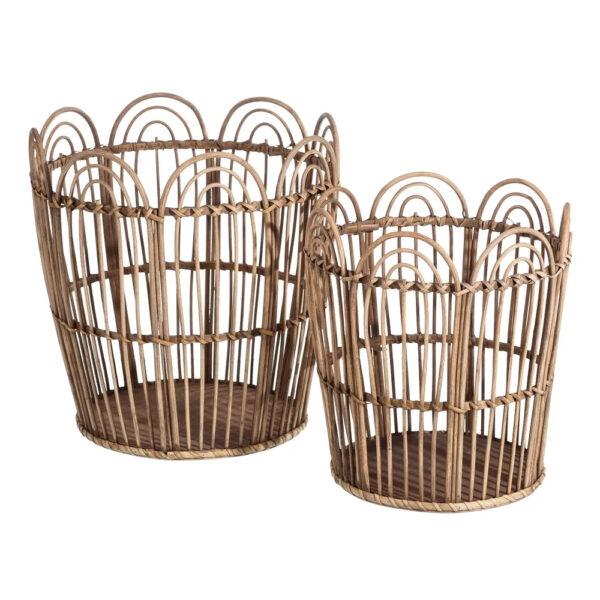 Cesta bambu lunada – acabado redondo – orden – organizar – Ixia – Liderlamp (1)