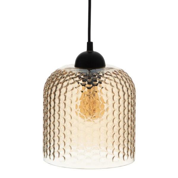 Colgante Caton – Cristal ambar – relieve – elegante – Ixia – Liderlamp (1)