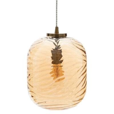 Colgante Saya - Cristal champagne - metal envejecido - elegante - Ixia - Liderlamp (1)