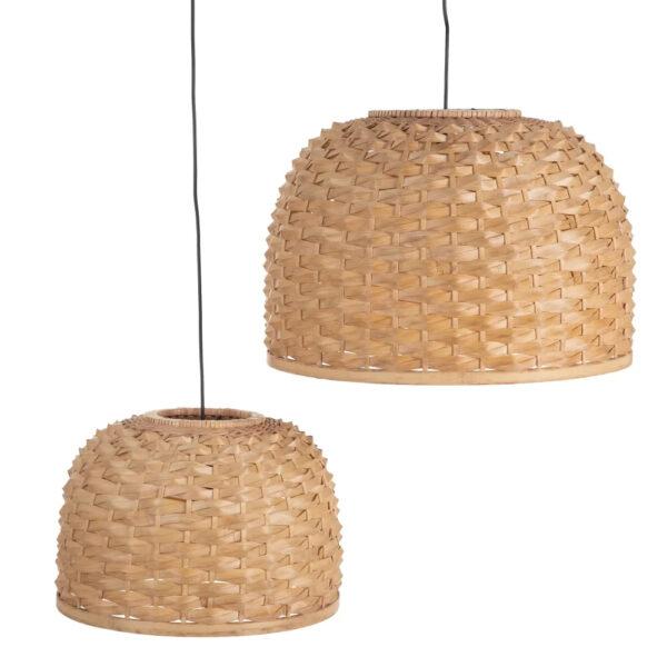 Colgante Valnera – fibra natural trenzada – metal – Ixia – Liderlamp (1)