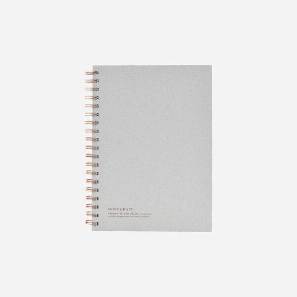 Cuaderno Tome – anillas – Monograph – papeleria – planificador – gris – Liderlamp (1)