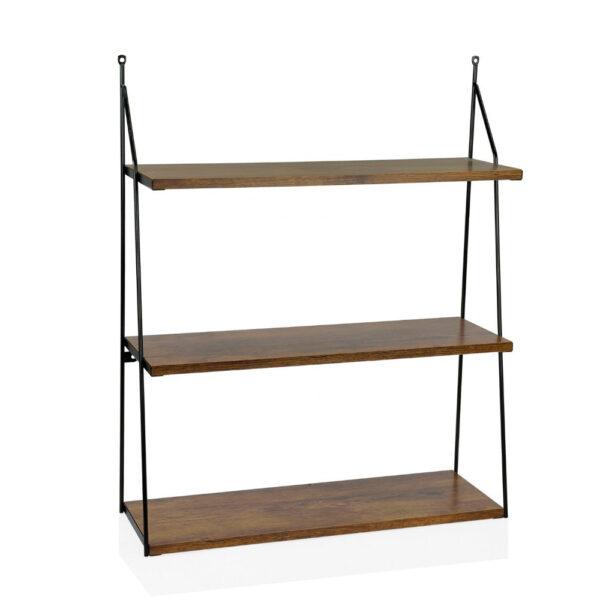 Estanteria de 3 baldas – madera oscura – Andrea House – almacenaje – Liderlamp (1)