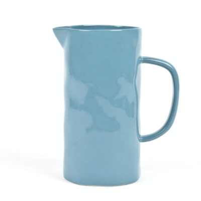 Jarra de ceramica - azul petroleo - Quail Egg - Artesano - menaje - mesas bonitas - Uk - Liderlamp (1)
