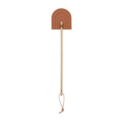 Matamoscas Toffe - cuero - madera - natural - OYOY Design - Deco - Liderlamp (1)