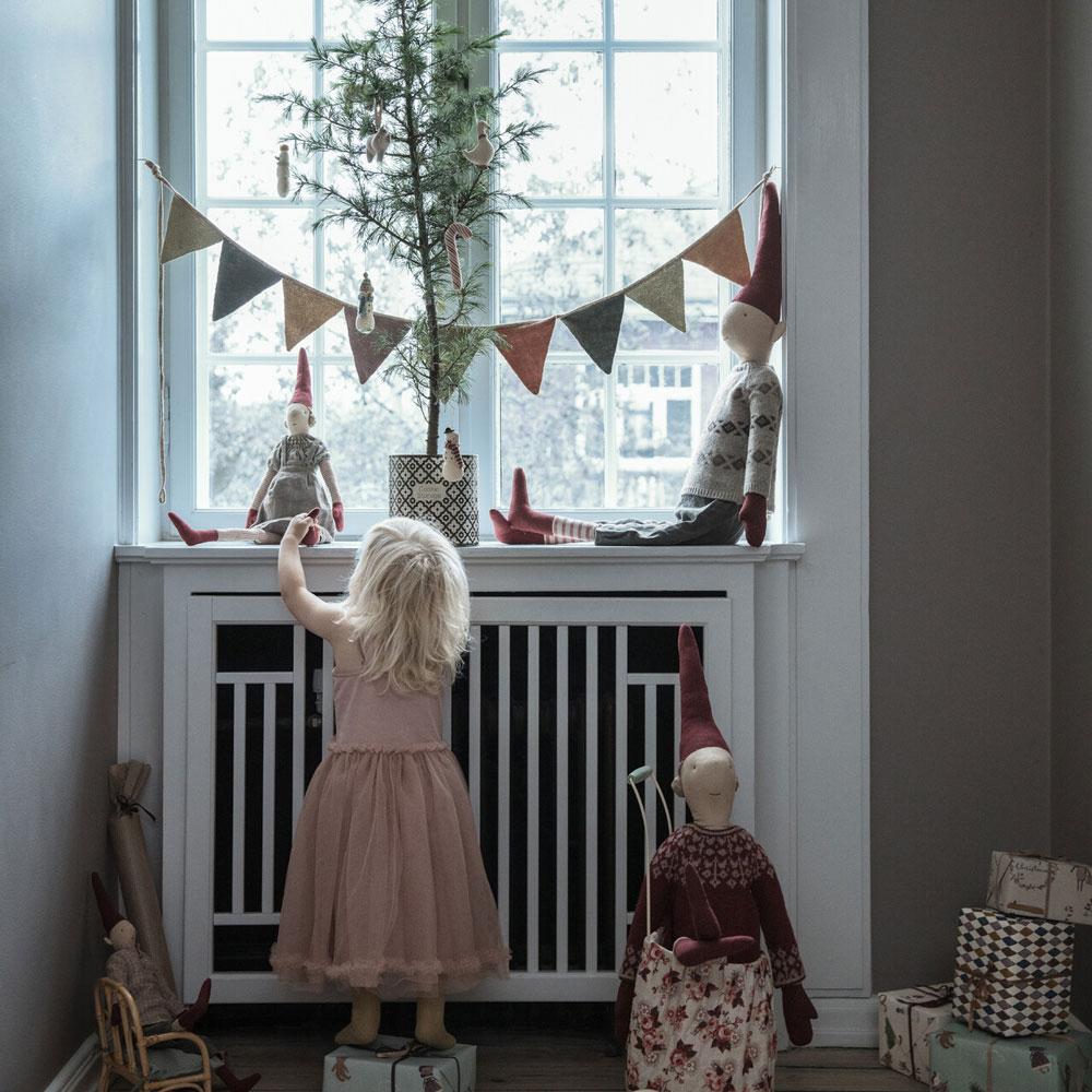 Navidad Maileg - Adornos colgantes nordicos - guirnalda ninos - banderines - Liderlamp