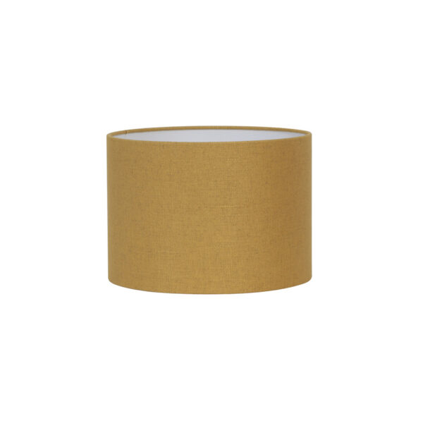Pantalla Livigno - decoracion textil - mostaza - ocre - Light and Living - Liderlamp