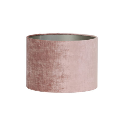 Pantalla Rosa - terciopelo rosa - textil - Light and Living - Liderlamp (1)