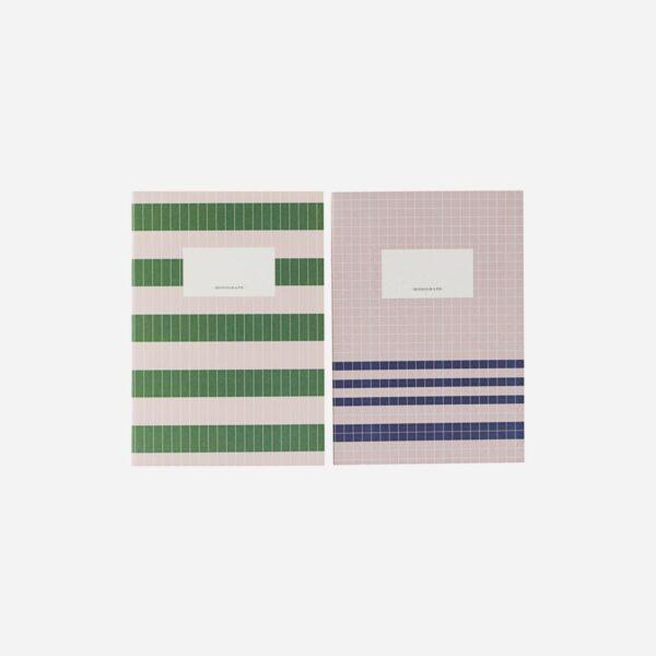 Set de 2 cuadernos - verde y nude - Monograph - papeleria - Liderlamp (1)