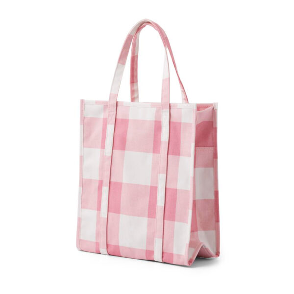Shopping Bag – Candyfloss rosa – Normann Copenhagen – vichy – Liderlamp (1)