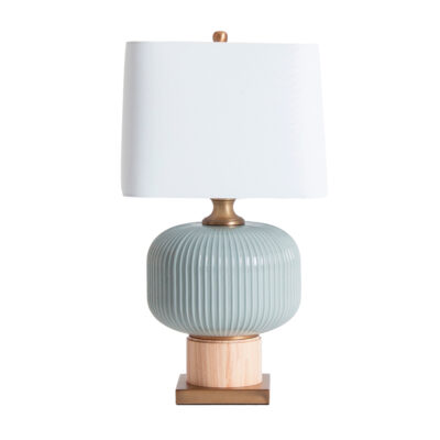 Sobremesa Itamar - vidrio gris - pantalla lino - vintage - Vical Home - Liderlamp (1)