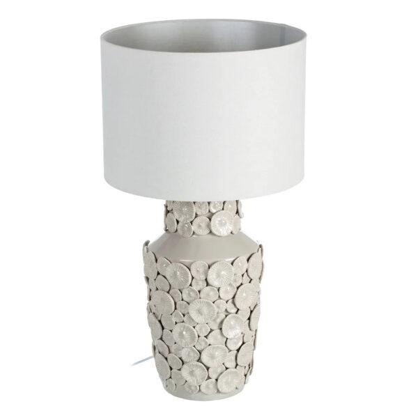 Sobremesa Tabulata - ceramica - flores - Ixia - pantalla textil - Liderlamp (1)