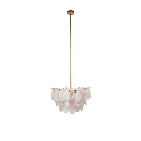 Colgante Blanc – cristal y metal – Chandelier – latón – Dutch Style – Liderlamp