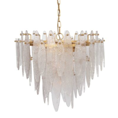 Colgante Helios - cristal y metal - Chandelier - oro - Dutch Style - Liderlamp (1)
