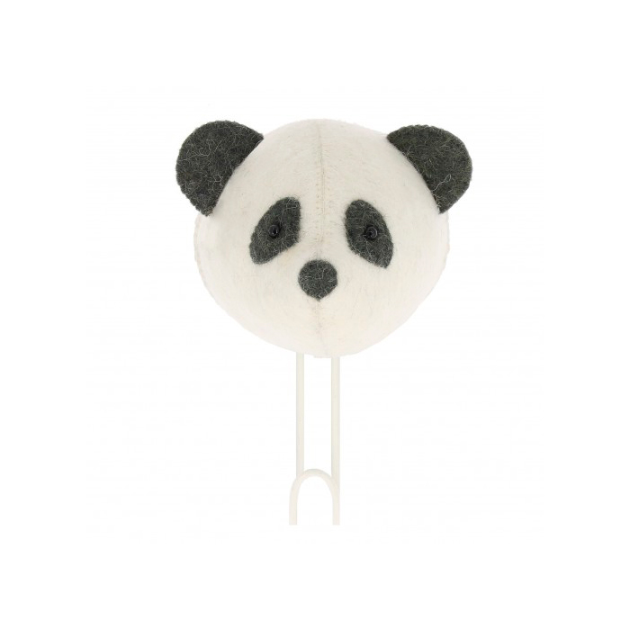 Cabeza de Panda de fieltro - percha - almacenaje pared - Fiona Walker - Liderlamp (1)