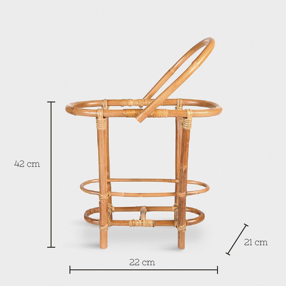 Cesta de bambu Jacobs - &Klevering - madera natural - dormitorio - Liderlamp (1)