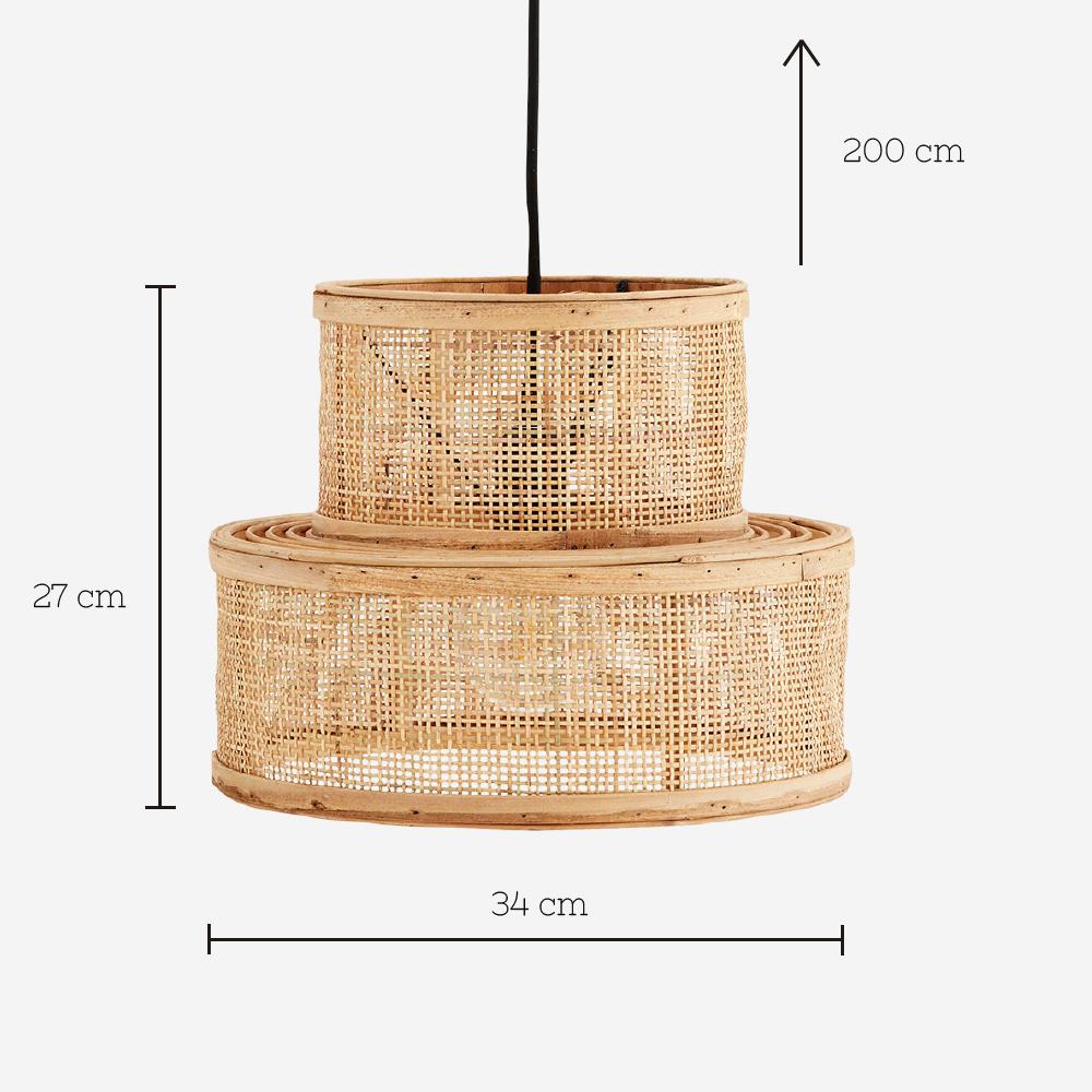 Colgante Kacem - Madam Stoltz - ratan - rejilla - color natural - Liderlamp (1)