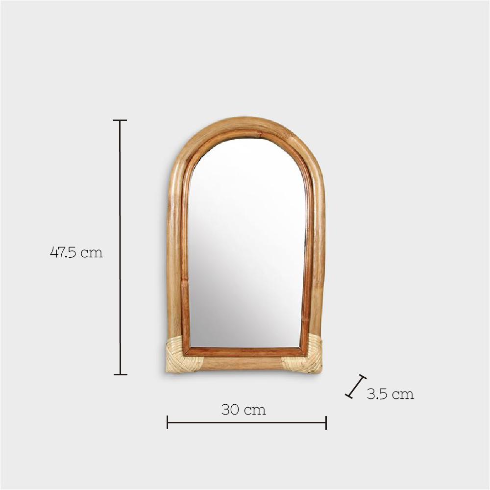Espejo Arco de bambu - &Klevering - madera natural - dormitorio - Liderlamp (1)