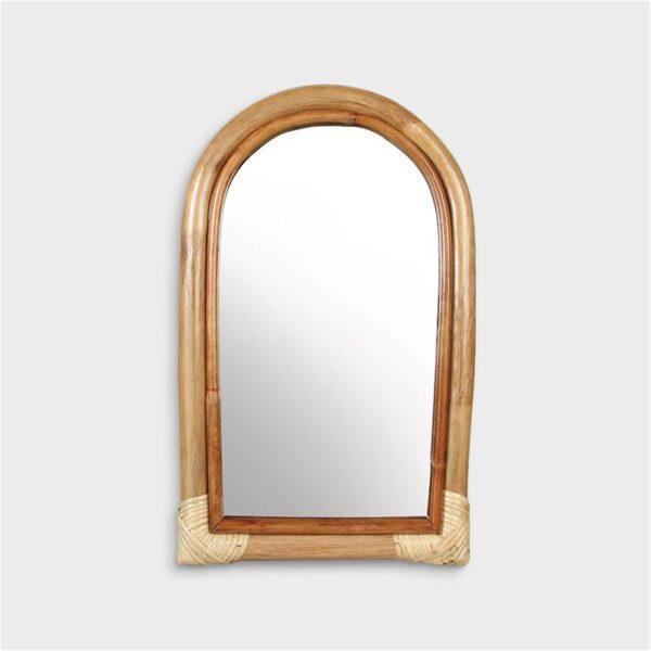 Espejo Arco de bambu – &Klevering – madera natural – dormitorio – Liderlamp (3)
