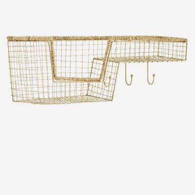 Estante Nicolo - Madam Stoltz - yute y metal - almacenaje pequeno - Liderlamp (2)