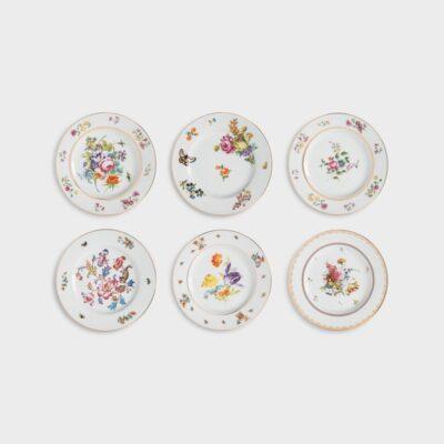 Juego de 6 platos floreados - &Klevering - flores inglesas - porcelana - Liderlamp (1)
