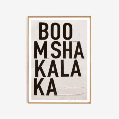 Lamina Boomshakalaka - My Deer -tipografia - decoracion mural - Liderlamp