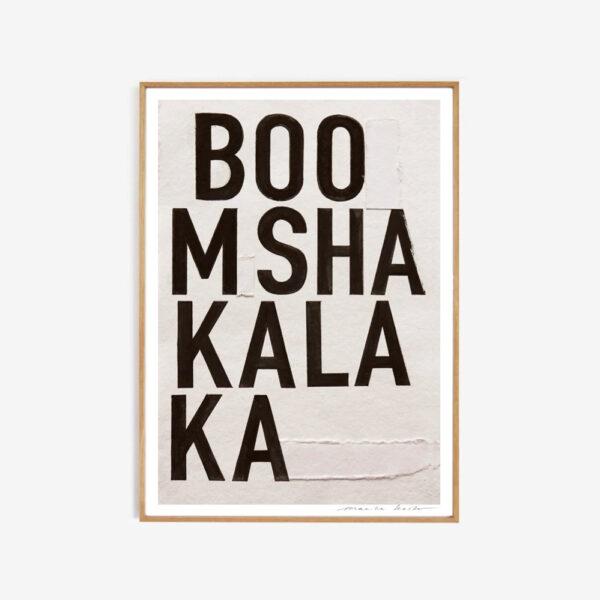 Lamina Boomshakalaka – My Deer -tipografia – decoracion mural – Liderlamp