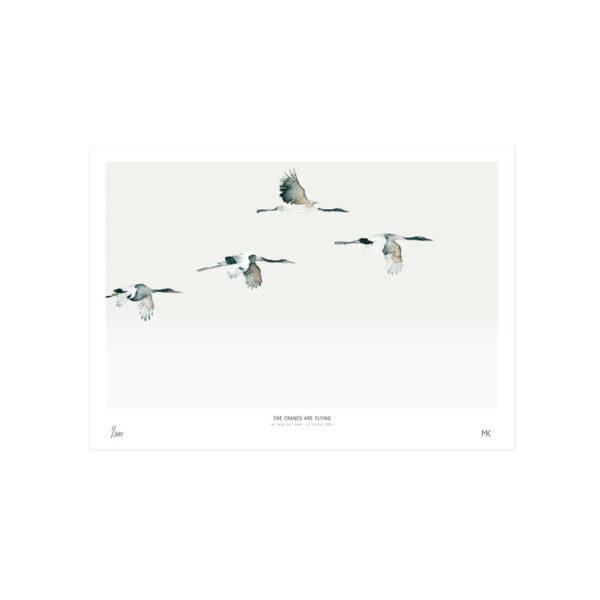 Lamina Cranes – My Deer – ciguenas – decoracion mural – Liderlamp