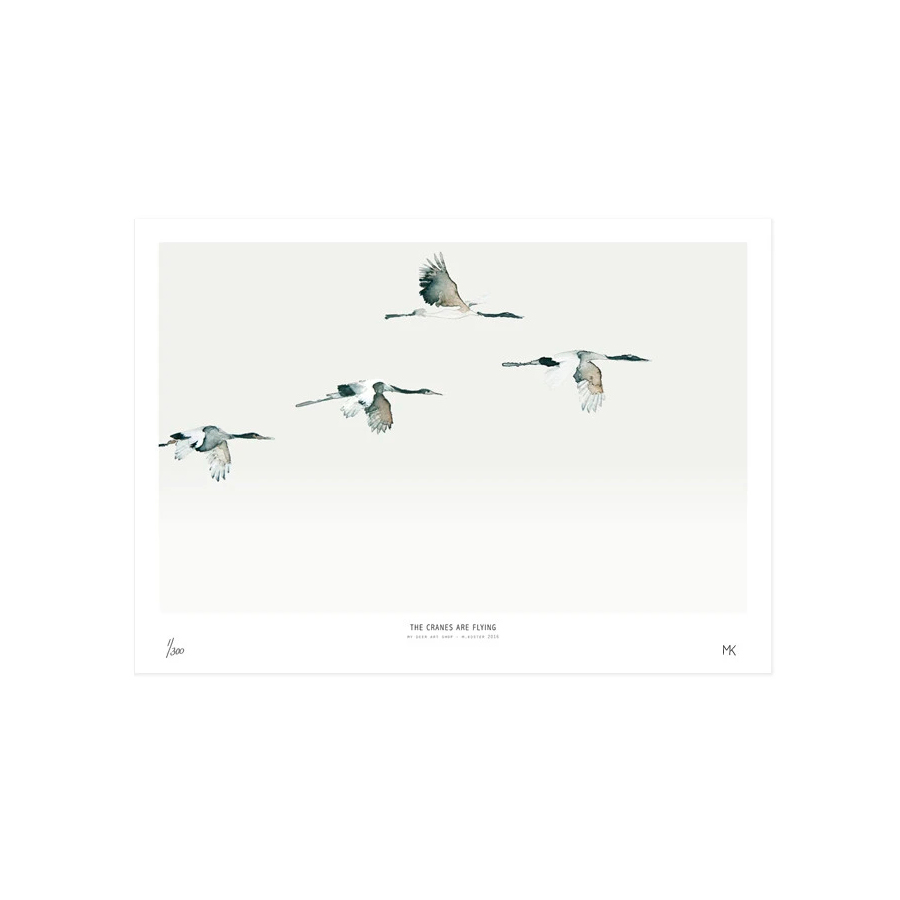 Lamina Cranes - My Deer - ciguenas - decoracion mural - Liderlamp