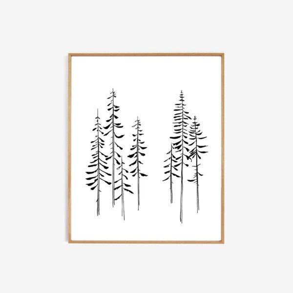 Lamina Pines – My Deer – naturaleza – decoracion mural – Liderlamp