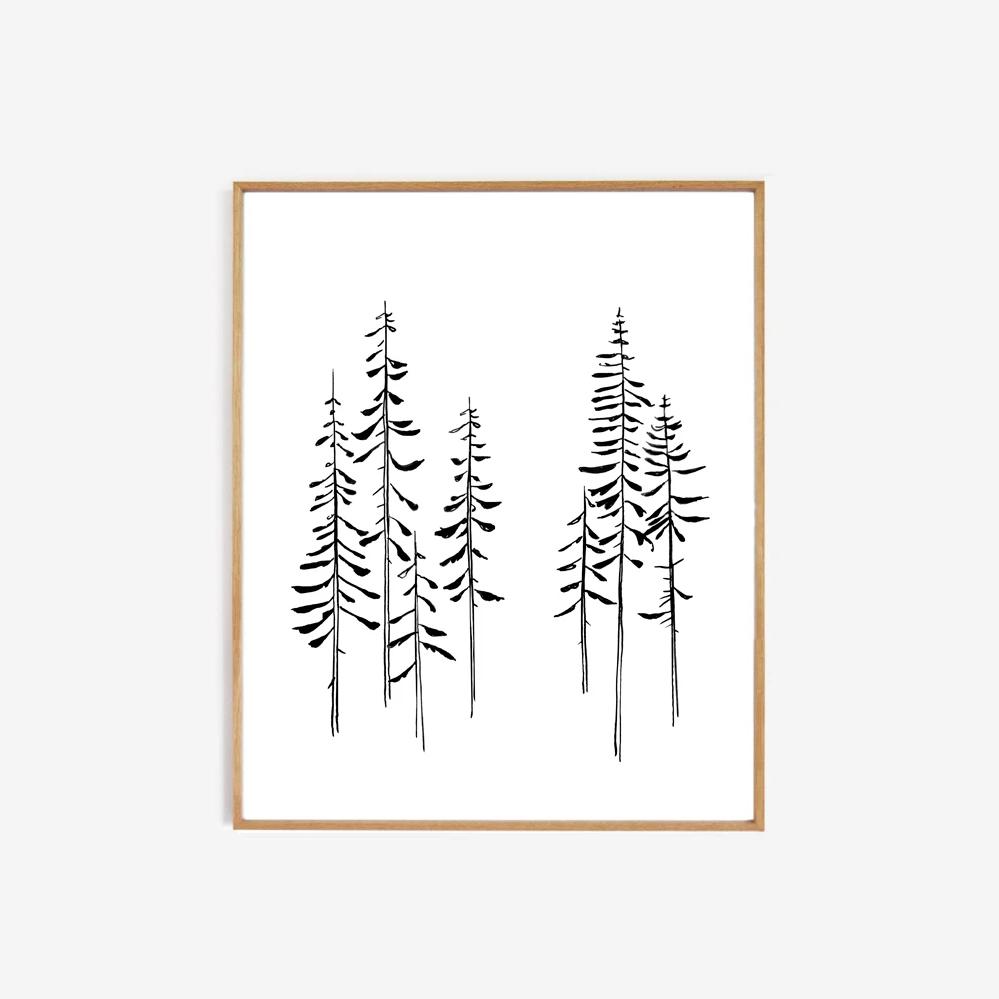 Lamina Pines - My Deer - naturaleza - decoracion mural - Liderlamp