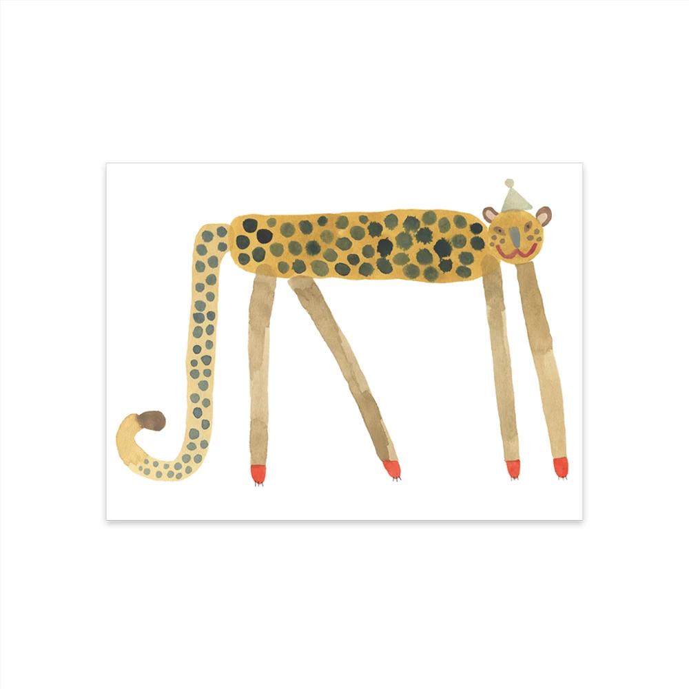Lamina Smiling Leopard Elvis - Oyoy - Ilustracion - Leon - infanil - Liderlamp