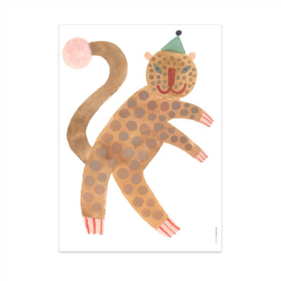 Lamina Standing Leopard Elvis - Oyoy - Ilustracion - Leopardo - infanil - Liderlamp (1)