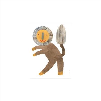 Lamina Standing Lion - Oyoy - Ilustracion - Leon - infanil - Liderlamp (1)