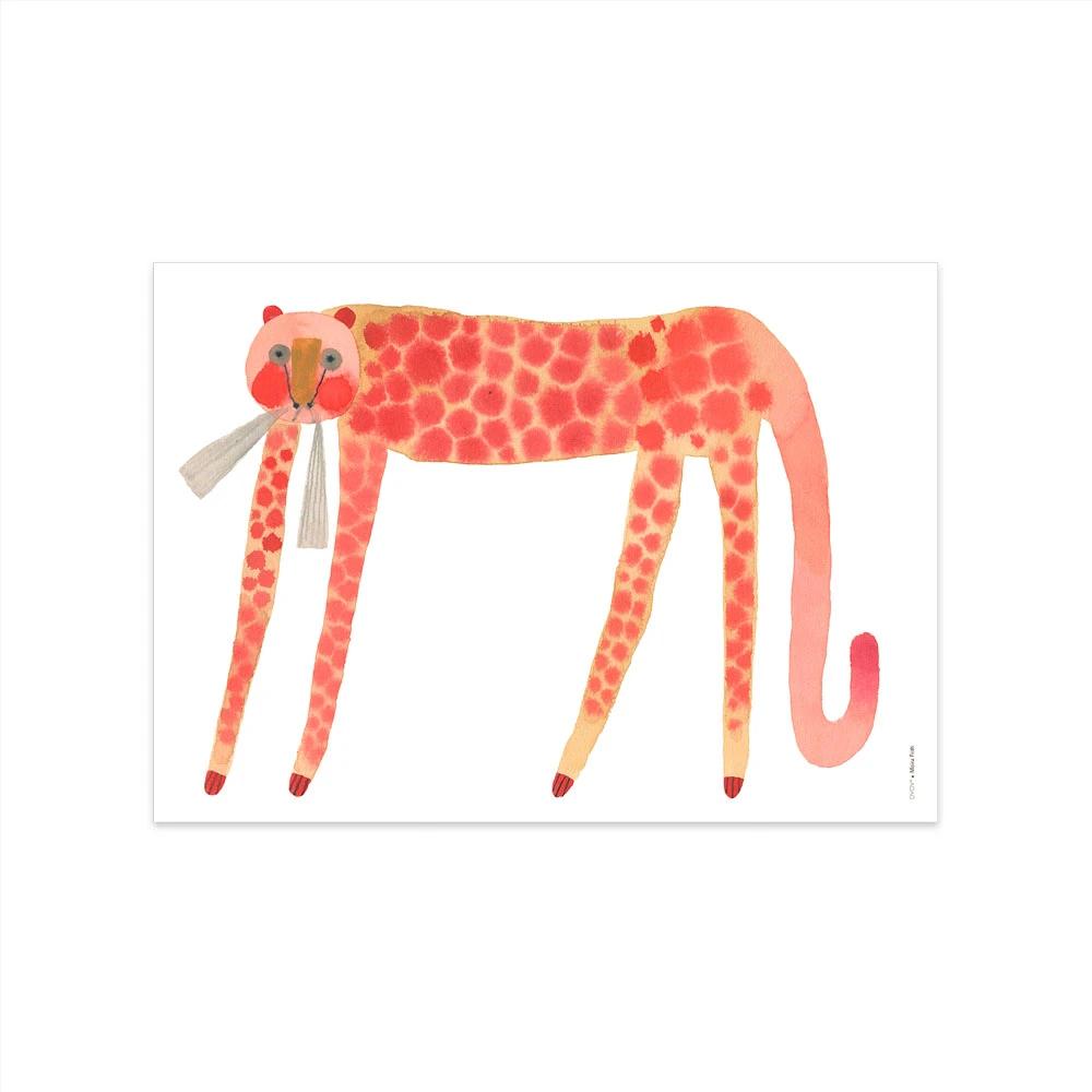 Lamina Strawberry Cat - Oyoy - Ilustracion - Leon - infanil - Liderlamp