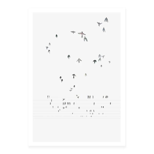 Lamina Swallows – My Deer – pajaros – decoracion mural – Liderlamp (1)