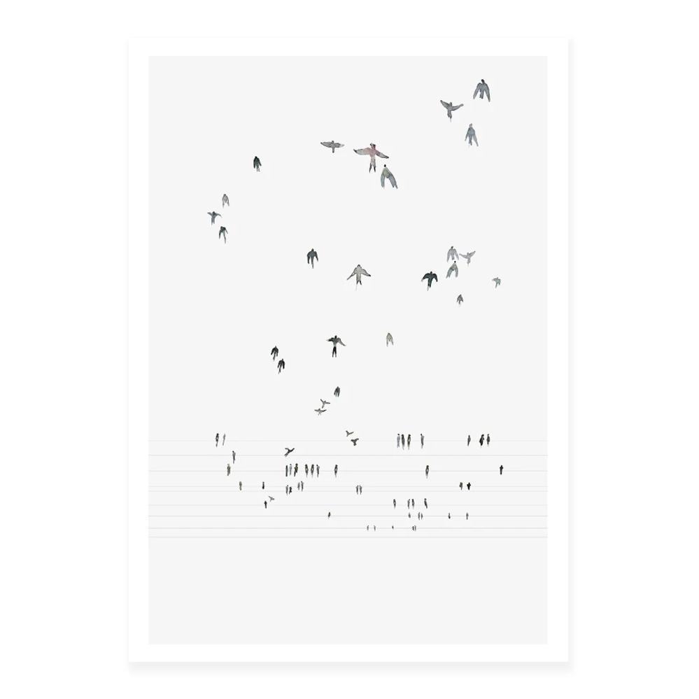 Lamina Swallows - My Deer - pajaros - decoracion mural - Liderlamp (1)