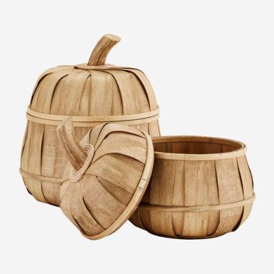 Set de cestas manzana con tapa - Madam Stoltz - ratan - natural - Liderlamp (1)