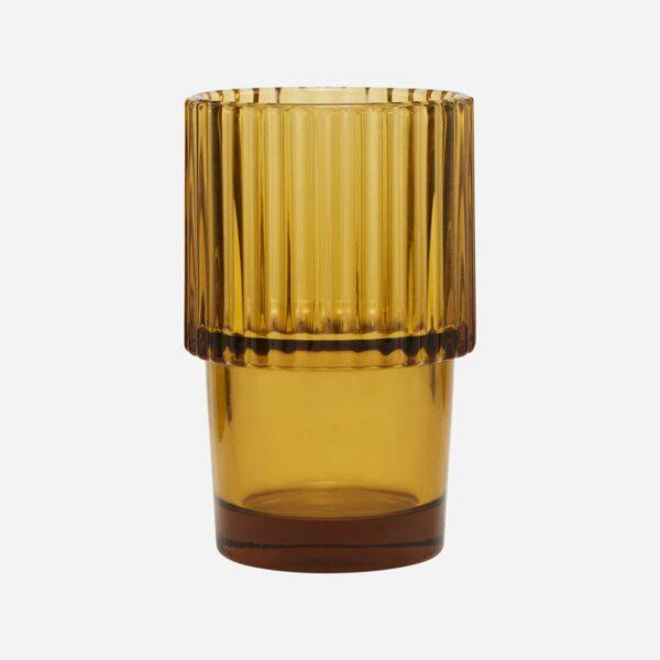 Vaso Rills Amber - menaje - estilo retro - mesas bonitas - House Doctor - Liderlamp (1)