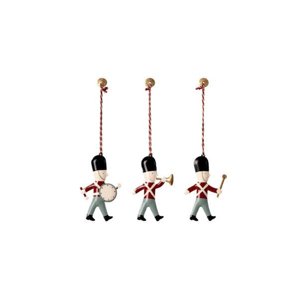 Adorno de navidad – 3 guardias en caja de cerillas – Maileg – decoracion – Liderlamp (1)