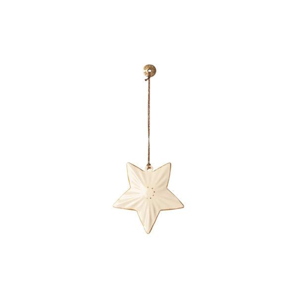 Adorno de navidad – Estrella blanca – Maileg – decoracion – Liderlamp