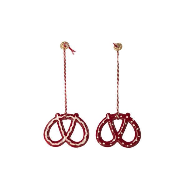 Adorno de navidad – Pretzel metalico – Maileg – decoracion – Liderlamp